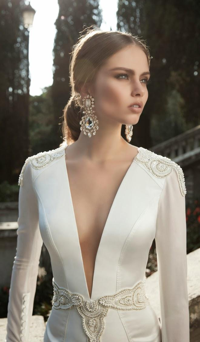Flawless makeup on Berta Bridal Winter collection 2014 models